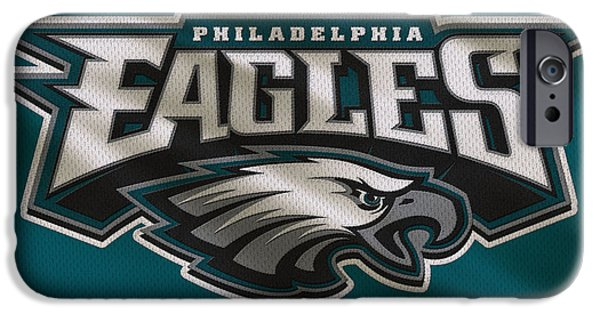 Uniform iPhone Cases - Philadelphia Eagles Uniform iPhone Case by Joe Hamilton