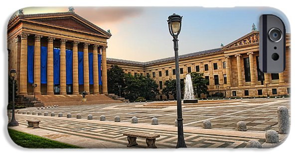 Facade iPhone Cases - Philadelphia Museum of Art iPhone Case by Olivier Le Queinec