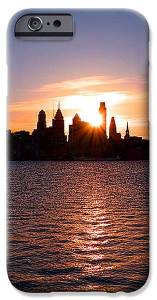 Philadelphia Sunset iPhone Case by Olivier Le Queinec