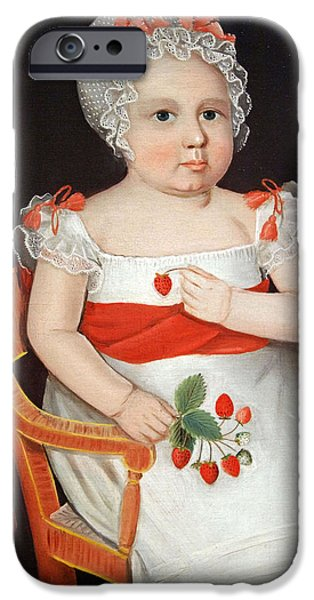 Cora Wandel iPhone Cases - Phillips The Strawberry Girl iPhone Case by Cora Wandel