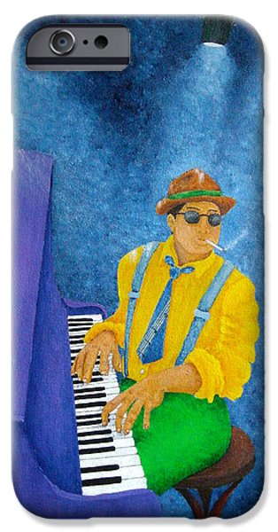 Piano Man iPhone Case by Pamela Allegretto