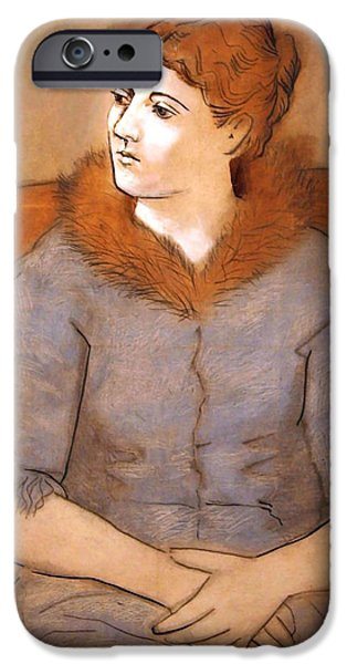 Cora Wandel iPhone Cases - Picassos Madame Picasso iPhone Case by Cora Wandel
