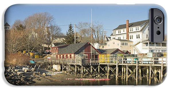 Gear iPhone Cases - Pier in Tenants Harbor Maine iPhone Case by Keith Webber Jr