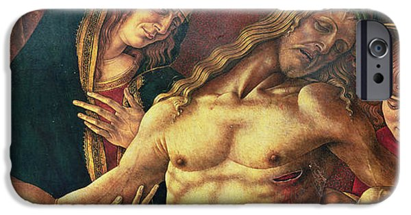 Son Of God Paintings iPhone Cases - Pieta iPhone Case by Carlo Crivelli
