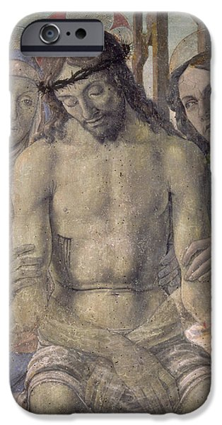 St John The Evangelist Paintings iPhone Cases - Pieta  iPhone Case by Italian School