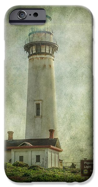 Red Rock iPhone Cases - Pigeon Point Light Station iPhone Case by Erik Brede