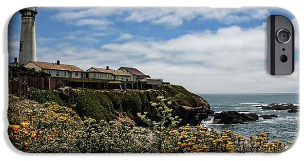 United States iPhone Cases - Pigeon Point Lighthouse iPhone Case by Judy Vincent