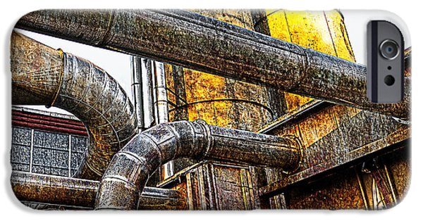 Dirty iPhone Cases - Pipes  iPhone Case by Rick Mosher
