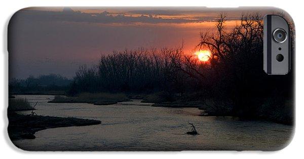 Nebraska iPhone Cases - Platte River, Nebraska iPhone Case by Mark Newman