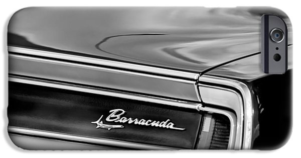 Plymouth iPhone Cases - Plymouth Barracuda Taillight Emblem iPhone Case by Jill Reger