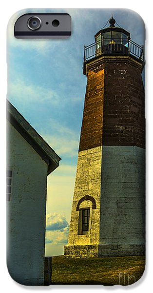 Lighthouse iPhone Cases - Point Judith Lighthouse iPhone Case by Diane Diederich