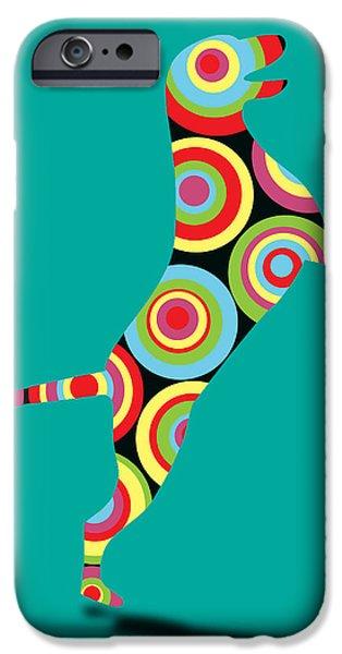 Labrador Retriever Digital Art iPhone Cases - Pointer iPhone Case by Mark Ashkenazi
