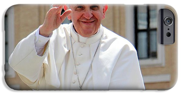 Papa iPhone Cases - Pope Francisco iPhone Case by Diane  Greco-Lesser