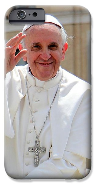 Pope Francisco iPhone Case by Diane  Greco-Lesser