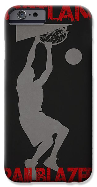 Nba iPhone Cases - Portland Trailblazers iPhone Case by Joe Hamilton