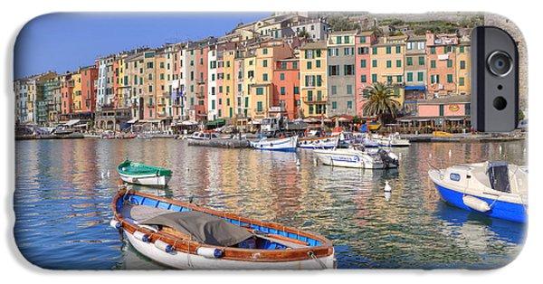 Boat iPhone Cases - Porto Venere iPhone Case by Joana Kruse