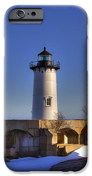 Constitution iPhone Cases - Portsmouth Harbor Light iPhone Case by Joann Vitali