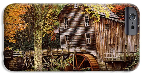 Autumn iPhone Cases - Power Station In A Forest, Glade Creek iPhone Case by Panoramic Images