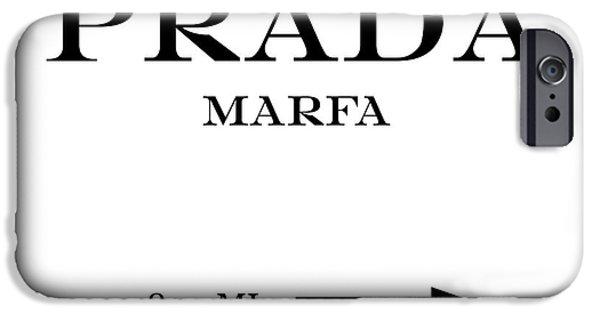 Distance iPhone Cases - Prada Marfa Mileage Distance iPhone Case by Edit Voros
