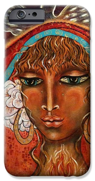 Maya Telford iPhone Cases - Pray For Peace iPhone Case by Maya Telford