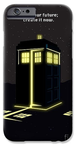 Dr Who iPhone Cases - Print iPhone Case by Sassan Filsoof