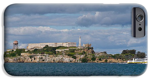 Alcatraz iPhone Cases - Prison On An Island, Alcatraz Island iPhone Case by Panoramic Images