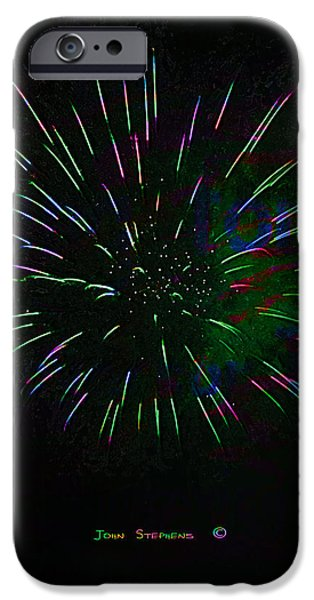 Psychedelic Fireworks iPhone Case by John Stephens