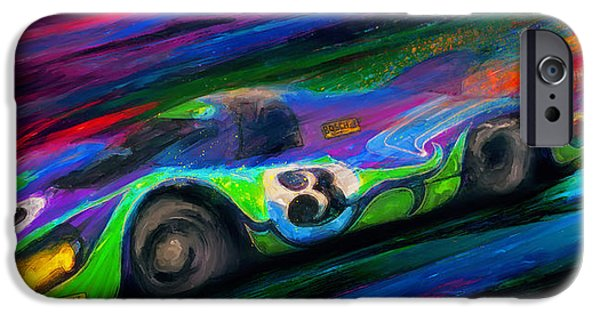 Le Mans 24 iPhone Cases - Psychotic Hippy iPhone Case by Alan Greene