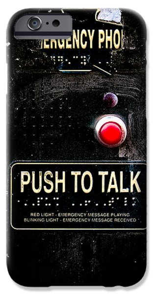 Police iPhone Cases - Push To Talk iPhone Case by Bob Orsillo