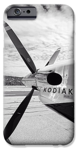 Kodiak iPhone Cases - Quest Kodiak Aircraft iPhone Case by Daniel Hagerman