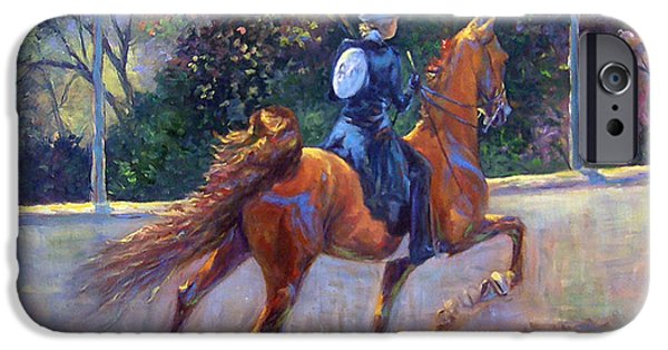 American Saddlebred iPhone Cases - Rack On iPhone Case by Jeanne Newton Schoborg