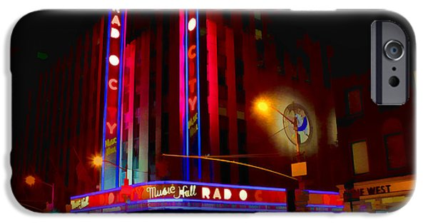 United States iPhone Cases - Radio City Music Hall iPhone Case by Jerry Coli