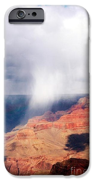 Grand Canyon iPhone Cases - Raining In The Canyon iPhone Case by Kathleen Struckle