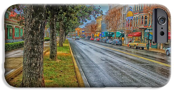 Recently Sold -  - Raining iPhone Cases - Rainy Day in Hot Springs Arkansas iPhone Case by Mountain Dreams