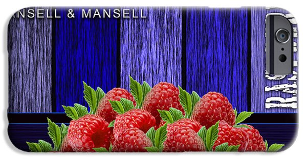 Raspberry iPhone Cases - Raspberry Fields iPhone Case by Marvin Blaine