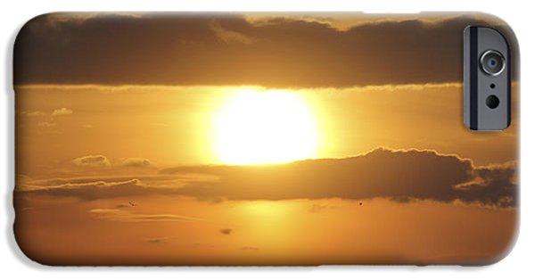 Sun Rays Digital Art iPhone Cases - Reach for the Sky 25 iPhone Case by Mike McGlothlen