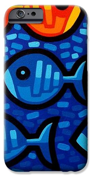 Texture iPhone Cases - Rebel Fish II iPhone Case by John  Nolan