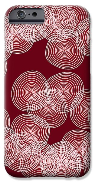 Red Abstract Circles iPhone Case by Frank Tschakert