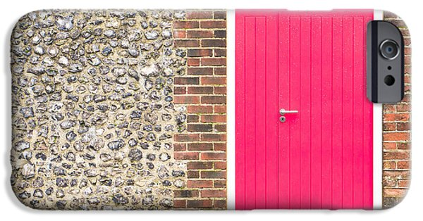 Building Feature iPhone Cases - Red door iPhone Case by Tom Gowanlock