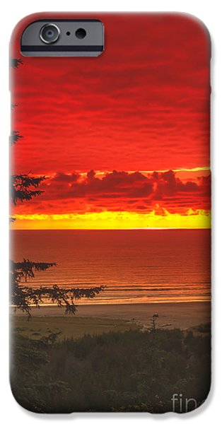 Red Pacific iPhone Case by Robert Bales