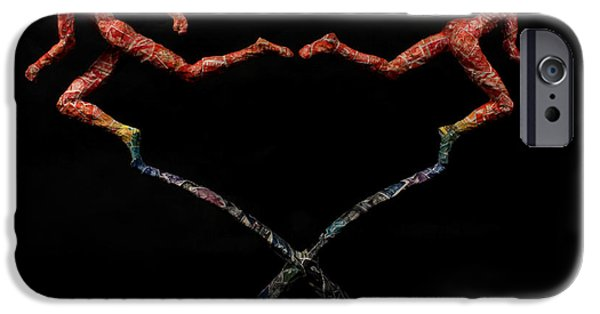 Spectrum Mixed Media iPhone Cases - Red Shift a science sculpture by Adam Long iPhone Case by Adam Long