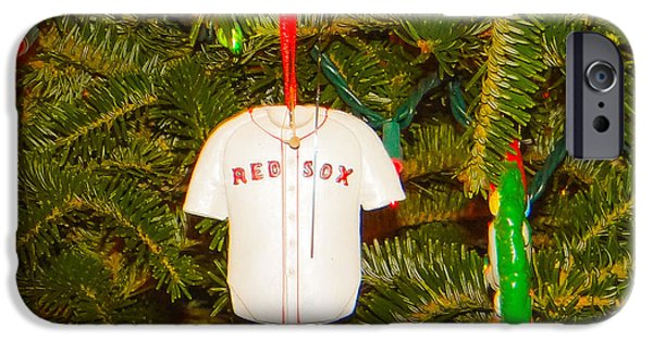 Red Sox Mixed Media iPhone Cases - Red Sox iPhone Case by Dennis Dugan