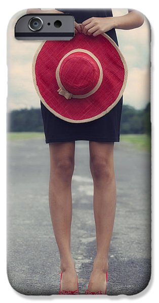 red sun hat iPhone Case by Joana Kruse