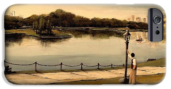 Charles River Mixed Media iPhone Cases - Reflections iPhone Case by Diane Strain