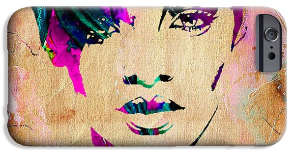 Rihanna iPhone Cases - Rhianna Collection iPhone Case by Marvin Blaine