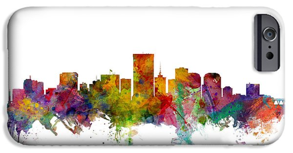 United States iPhone Cases - Richmond Virginia Skyline iPhone Case by Michael Tompsett