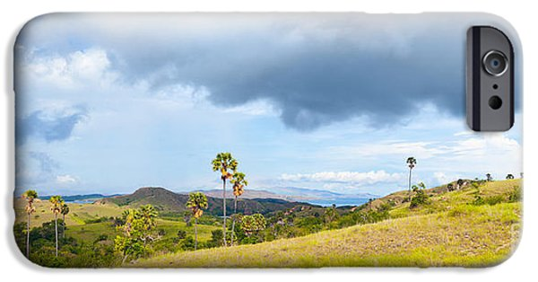 Park Scene iPhone Cases - Rinca panorama iPhone Case by MotHaiBaPhoto Prints