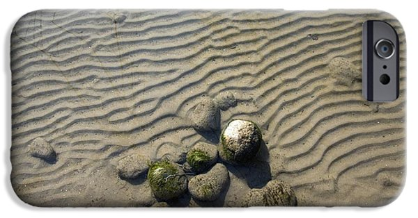 Brown Swiss iPhone Cases - Ripple Marks In Submerged Sediments iPhone Case by Dr Juerg Alean