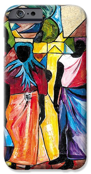 Jacob Lawrence iPhone Cases - Road to the Market iPhone Case by Everett Spruill