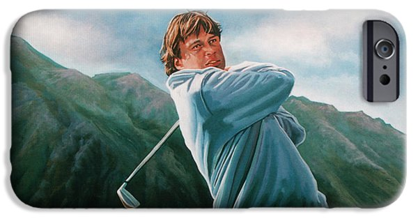 Golfing iPhone Cases - Robert Jan Derksen iPhone Case by Paul  Meijering
